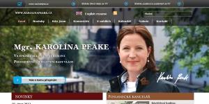 Ministryně Karolina Peake