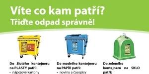 Leták na třídění odpadu pro obec Mikulovice