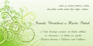 Pozvánka na svatbu