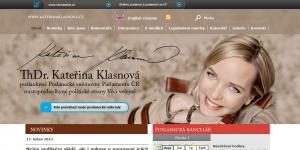 Web pro Kateřinu Klasnovou