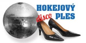 Plakát a vstupenka na hokejový disco ples