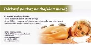 Dárkový poukaz na masáž